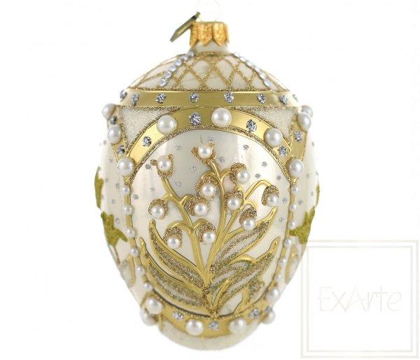 motyw kwiatów złota bombka jajko