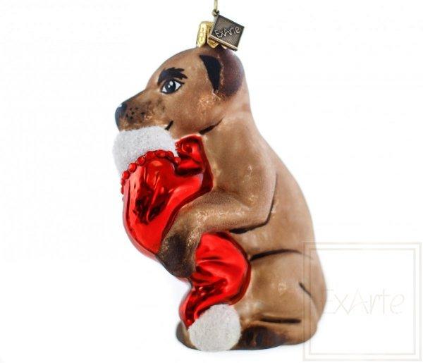 Hund 11 cm - Es ist schon Weihnachten!
