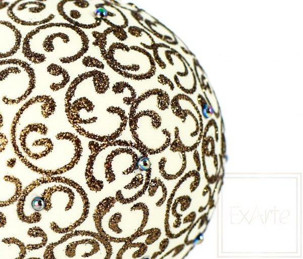 Kugel 10 cm – Goldene Arabeske