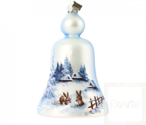 bombka dzwonek malowane zające