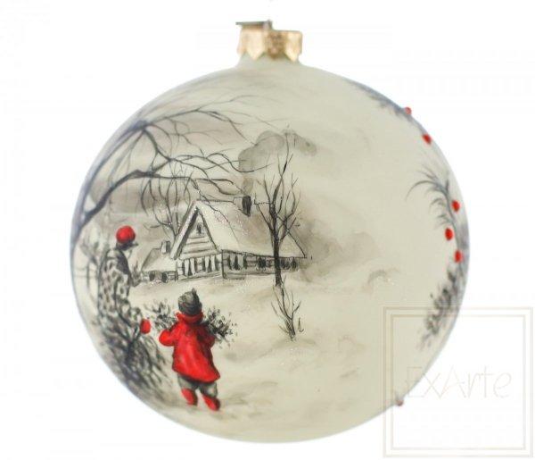 bombki choinkowe ręcznie malowane zima