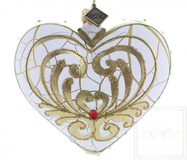Herz 9,5cm – Goldene Blätter