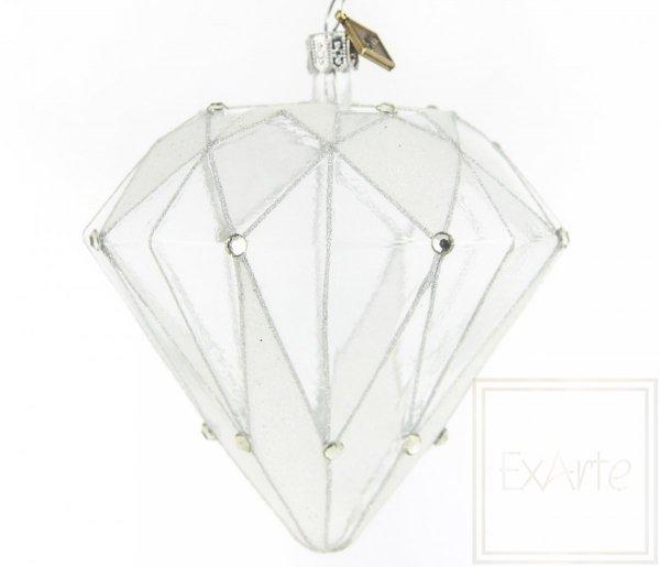 bombka w kształcie diamentu / Diamant 10cm - Kristall
