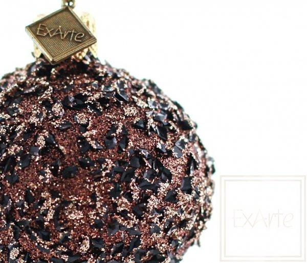 brązowy grzyb bombka świąteczna