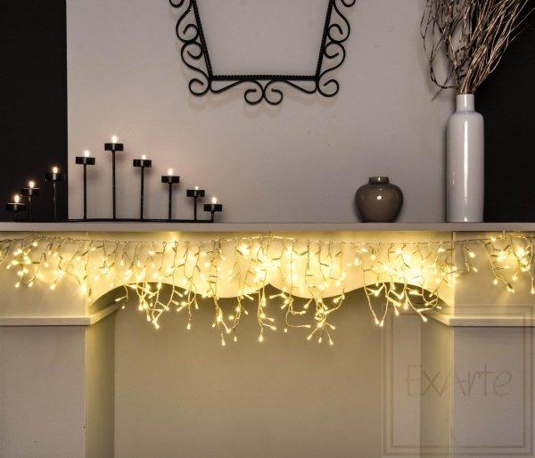 Weihnachtslämpchen Swaglight/Girlande - Länge 1,6m,warmes weißes Licht