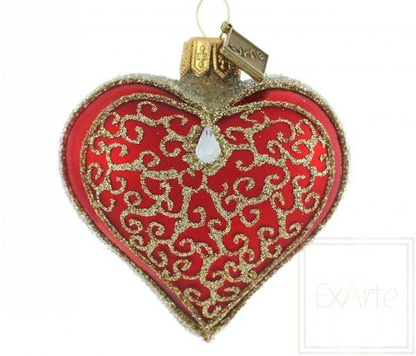 Herz 5cm - goldene Pirouetten