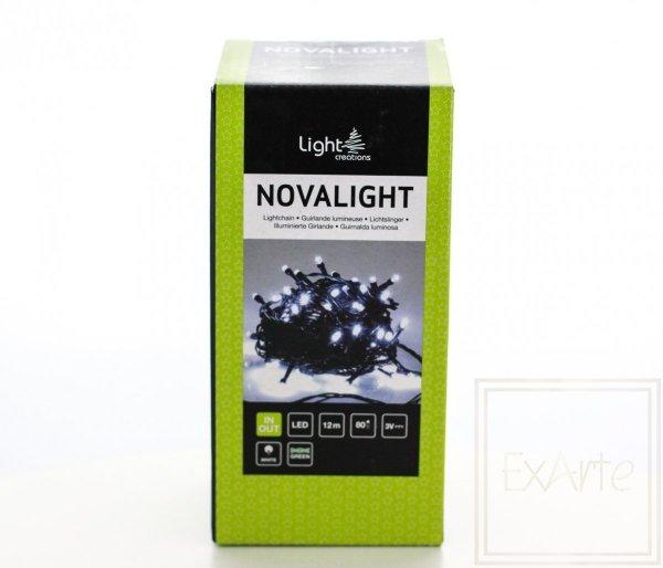 Lampki choinkowe Novalight - długość 12m, światło białe