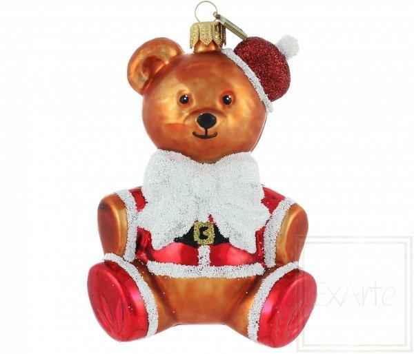 Christbaumkugel Teddybär Nikolaus 12cm