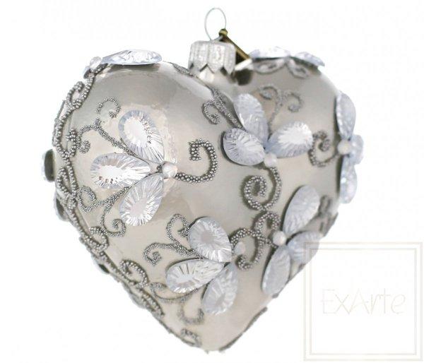kryształowe serce bombka choinkowa