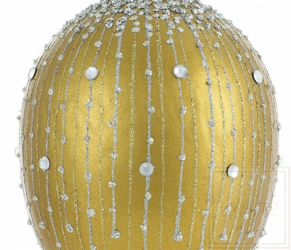Weihnachtskugel Gold, złota bombka choinkowa, Golden Christmas bauble