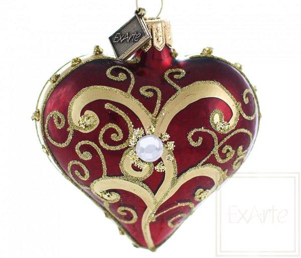 Serce 5cm - Perła w czerwieni