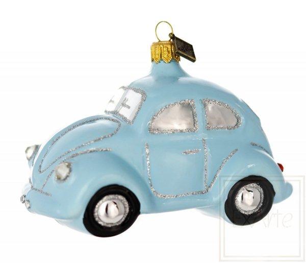 niebieskie auto bombka figurka