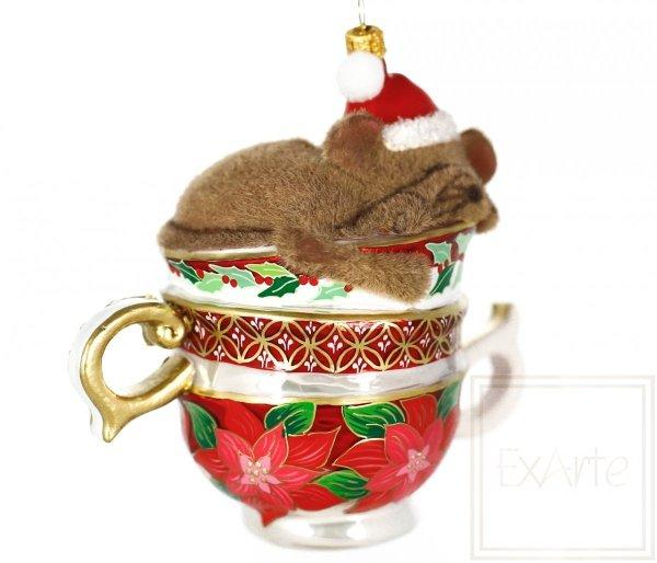śpiąca mysz bombka bożonarodzeniowa