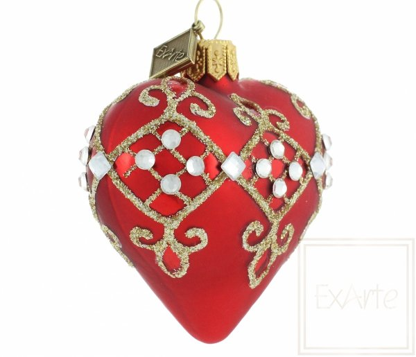 Serce 5cm - Diamentowe karo, Heart 5cm - diamond caro, Herz 5cm - Diamant-Caro,