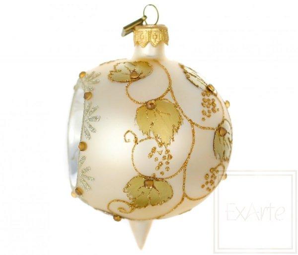 złota bombka z reflektorem