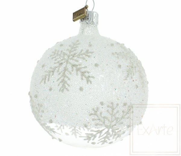 płatek śniegu białe bombki / 8cm Kugel - Eisland