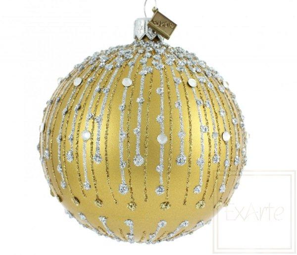 Golden-Weihnachtskugeln, złota bombka, Golden Christmas bauble