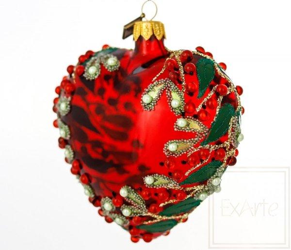 Serce  9cm - Świąteczne