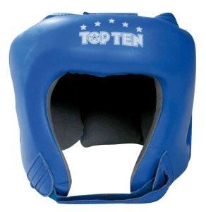 Kask bokserski Top Ten KTT AIBA skóra - niebieski