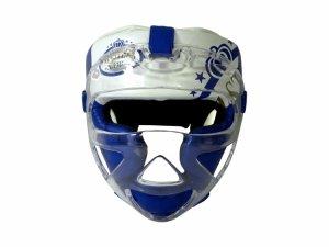 Kask bokserski MASTERS z maską niebieski KSS-M