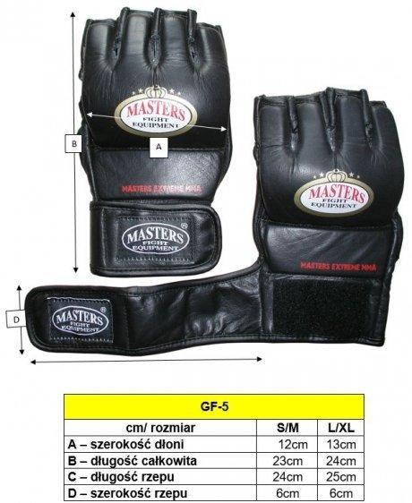 Rękawice MASTERS PHANTOM MMA - GF-5