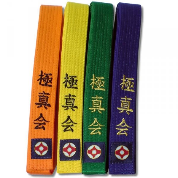 Pasy z haftem KARATE KYOKUSHIN standard