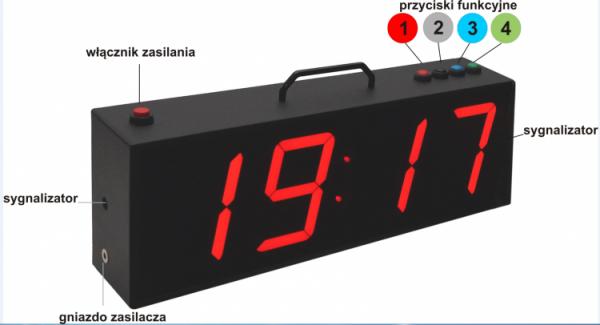 Zegar interwałowy duży BT 01