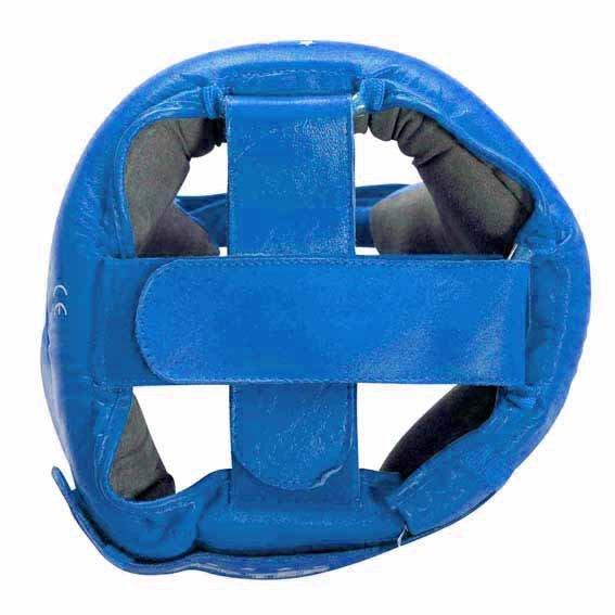 Kask bokserski Top Ten AIBA skóra - niebieski