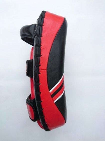 Tarcze treningowe skórzane czarno-czerwone - TPAO-Z S4
