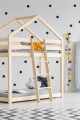 DMP 80x180cm Łóżko piętrowe dziecięce domek Mila ADEKO