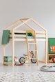 DMPA 80x180cm Łóżko piętrowe dziecięce domek Mila ADEKO