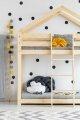 DMP 80x200cm Łóżko piętrowe dziecięce domek Mila ADEKO