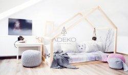 DM 90x160cm Łóżko dziecięce domek Mila ADEKO