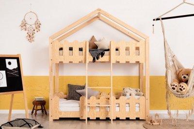Kaiko P 80x160cm Łóżko piętrowe dziecięce domek Mila ADEKO