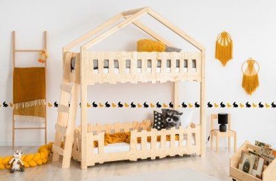 Zippo B 90x200cm Łóżko piętrowe dziecięce domek Mila ADEKO