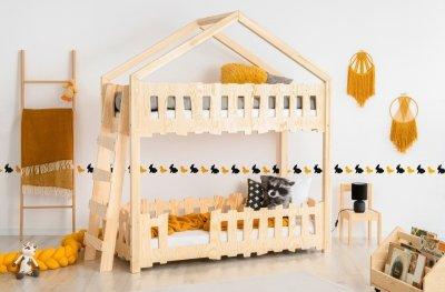 Zippo B 80x200cm Łóżko piętrowe dziecięce domek Mila ADEKO