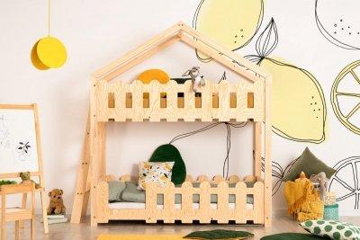 Kaiko B 70x140cm Łóżko piętrowe dziecięce domek Mila ADEKO