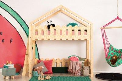 Kaiko BA 80x140cm Łóżko piętrowe dziecięce domek Mila ADEKO