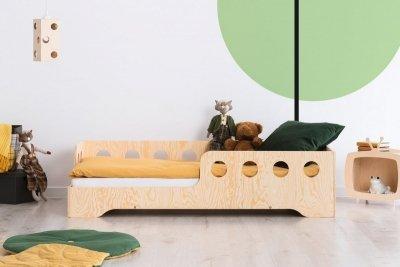 KIKI 5 - L  80x150cm Łóżko dziecięce drewniane ADEKO