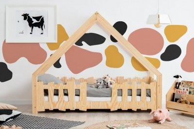 GATO 90x160cm Łóżko dziecięce domek ADEKO