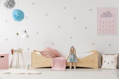BOX 3 60x120cm Łóżko drewniane dziecięce