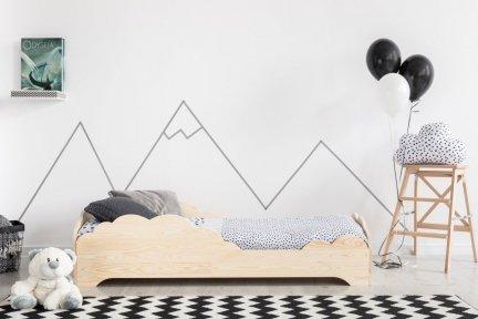 BOX 9 100x170cm Łóżko drewniane dziecięce