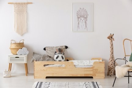 BOX 2 90x150cm Łóżko drewniane dziecięce