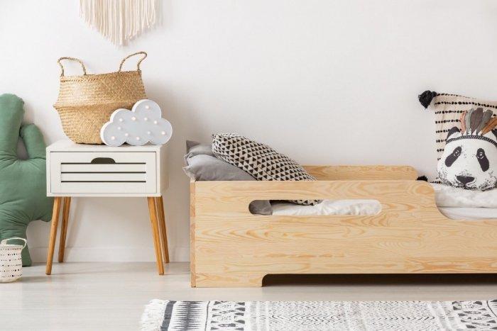 BOX 2 80x140cm Łóżko drewniane dziecięce