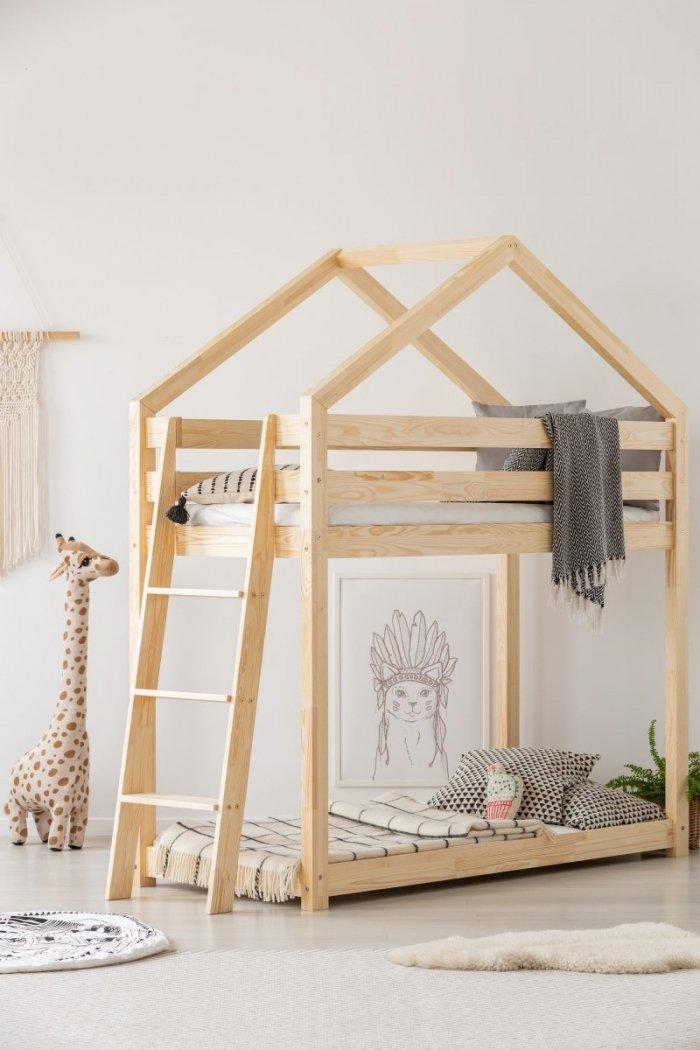 DMPB 90x140cm Łóżko piętrowe dziecięce domek Mila ADEKO