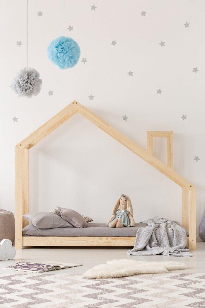 Mila DMS Duży rozmiar - Łóżko dziecięce domek ADEKO
