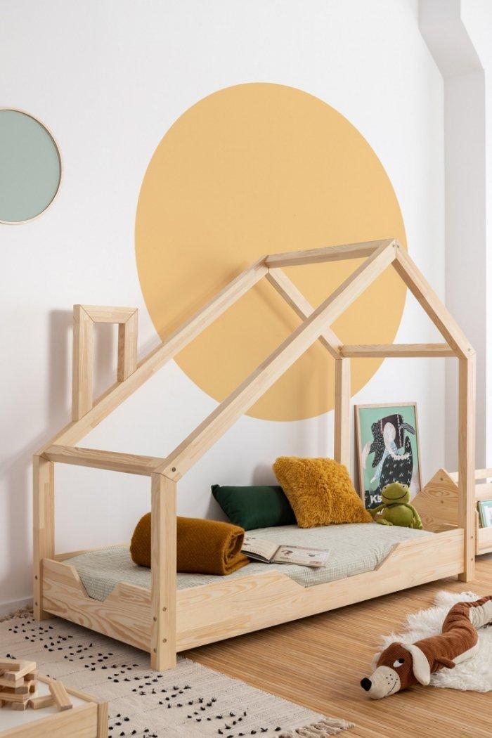 Luna B 90x180cm Łóżko dziecięce domek ADEKO