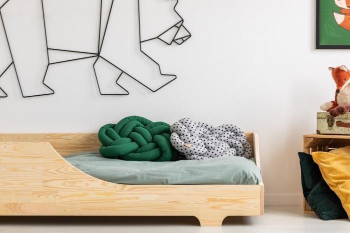BOX 4 80x160cm Łóżko drewniane dziecięce