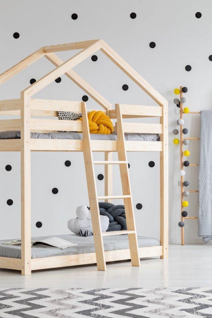 DMP 90x180cm Łóżko piętrowe dziecięce domek Mila ADEKO