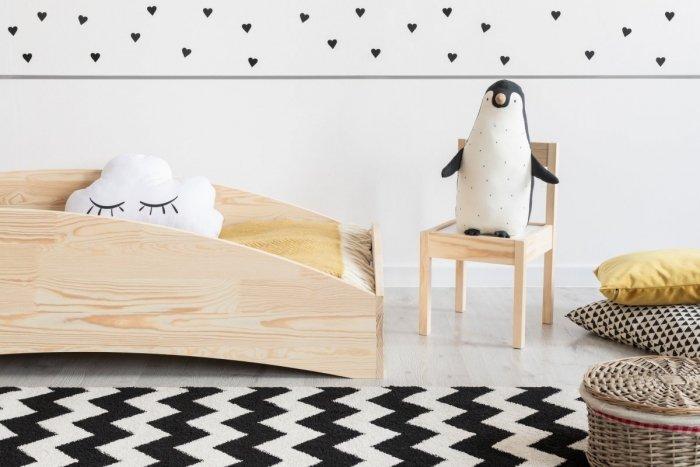 BOX 6 90x160cm Łóżko drewniane dziecięce